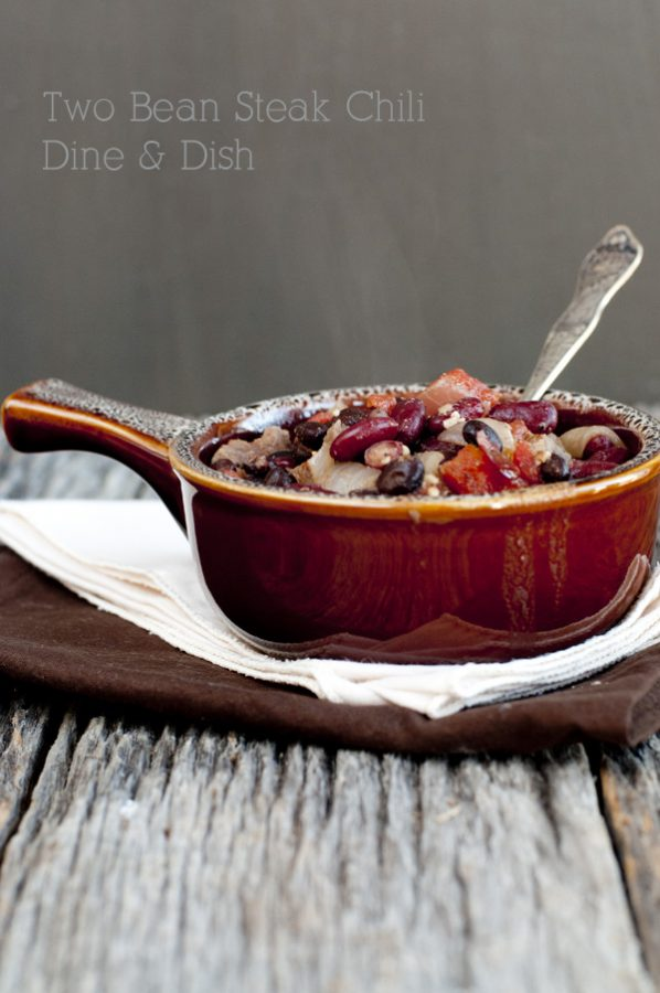 One Pot Bush's Beans Two Bean Steak Chili