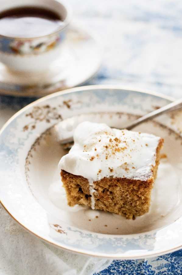 Gingerbread Coffee Cake with Ginger Cream from Dine & Dish