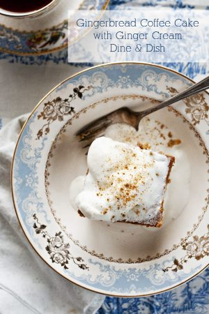 Gingerbread Coffee Cake with Ginger Cream