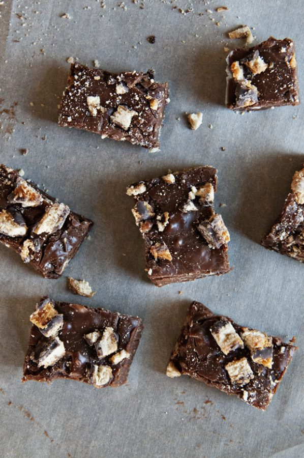 Girl Scout Cookie Fudge Recipe from Dine & Dish