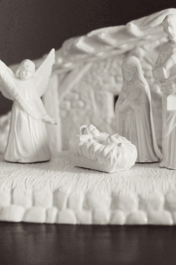White Nativity Scene