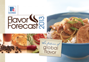 McCormick's Flavor Forecast 2013: The Future of Global Flavor