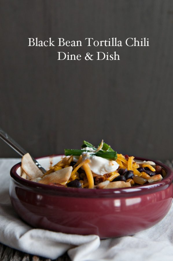 Bush's Black Bean Tortilla Chili plus the weeks menu plan at www.dineanddish.net