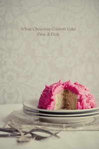 White Chocolate Confetti Cake Recipe