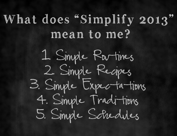 "What the word ""simplify"" in 2013 means to me www.dineanddish.net"