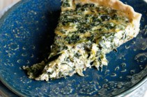 Simple Spinach Parmesan Quiche from www.dineanddish.net