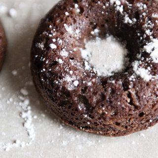 Chocolate Cake Doughnuts www.dineanddish.net