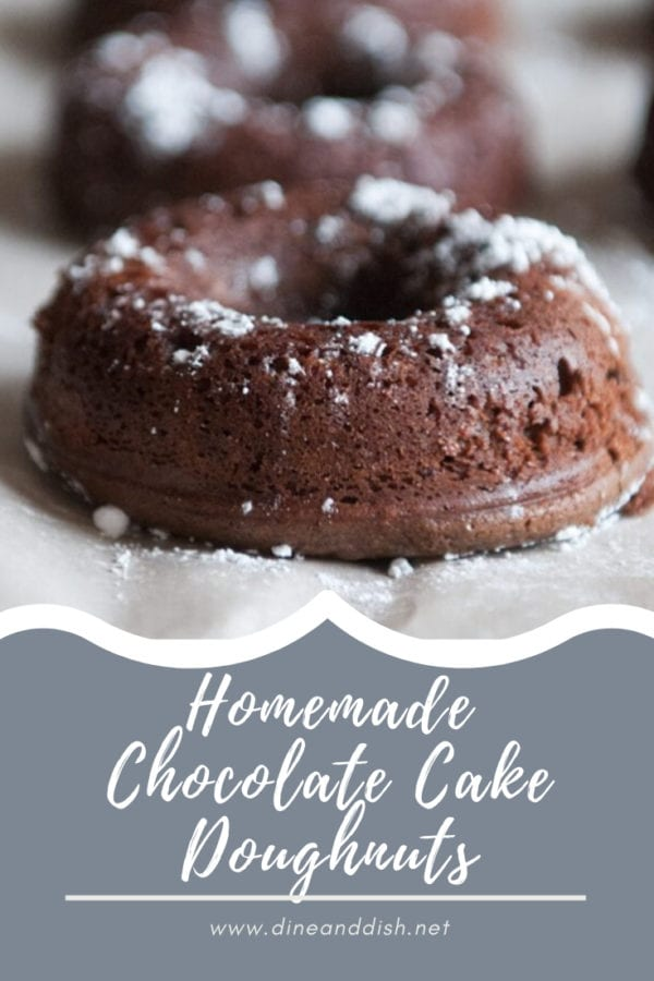 Chocolate Cake Doughnuts on Parchment Paper