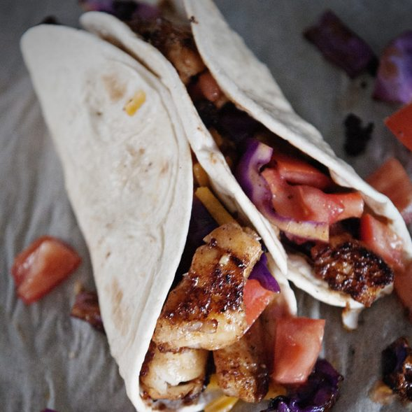 Balsamic Fish Tacos from dineanddish.net
