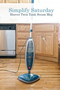 Simplify Saturday: Hoover Twin Tank Steam Mop