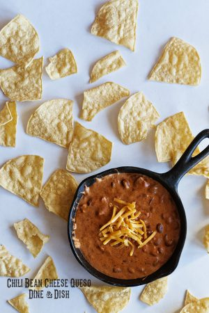 Bush's Beans Recipe Exchange {Recipe: Chili Bean Cheese Queso}