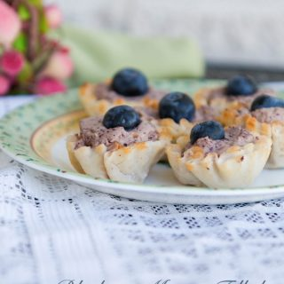 Blueberry Mousse Fillo Bites from Dine & Dish