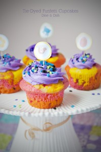 Celebrate with Tie-Dyed Funfetti Cupcakes {Giveaway}