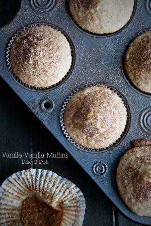 Vanilla Vanilla Muffins from Dine & Dish