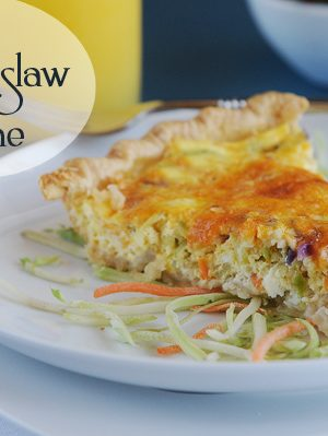 A Healthy Start {Recipe: Cheesy Slaw Quiche}