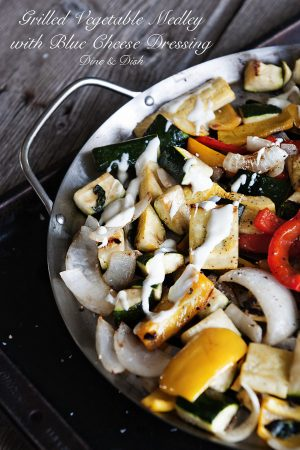 Grilled Vegetable Medley with Blue Cheese Dressing