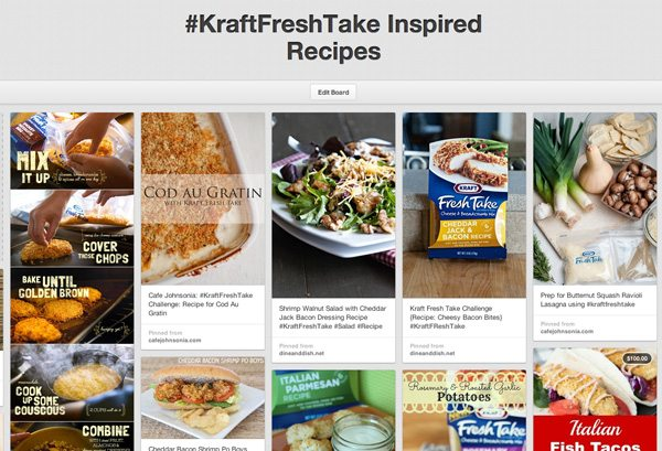 Kraft FreshTake Inspired Pinterest Board