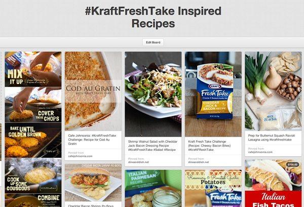 Kraft FreshTake Inspired Pinterest Board