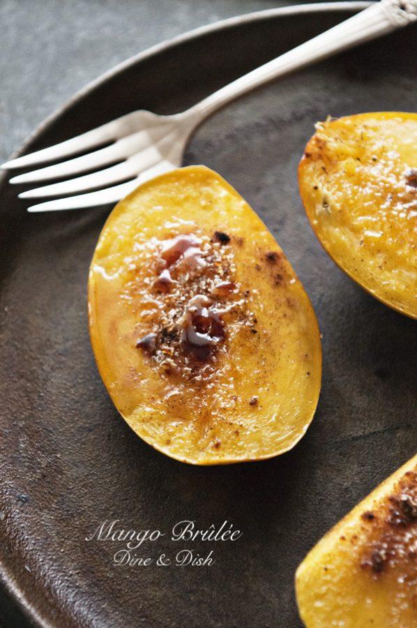 Mango Brulee www.dineanddish.net