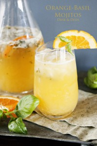 Orange-Basil Mojitos Recipe