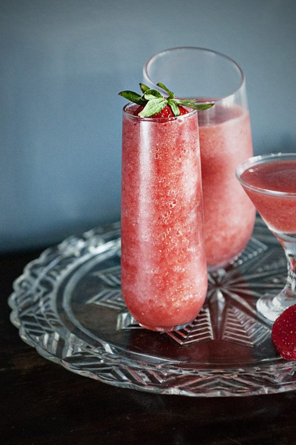 Lemongrass Strawberry Daiquiris from www.dineanddish.net