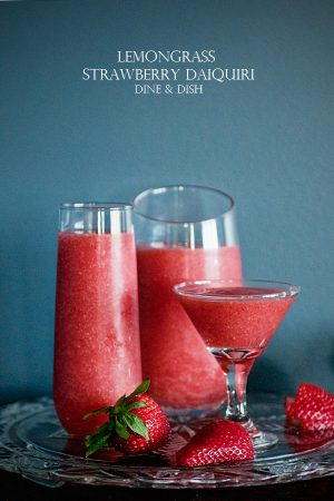 Lemongrass Strawberry Daiquiri www.dineanddish.net