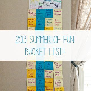 2013 Summer of Fun Bucket List from www.dineanddish.net