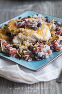 Feed Me {Recipe: Southwest Black Bean Chicken and Rice}
