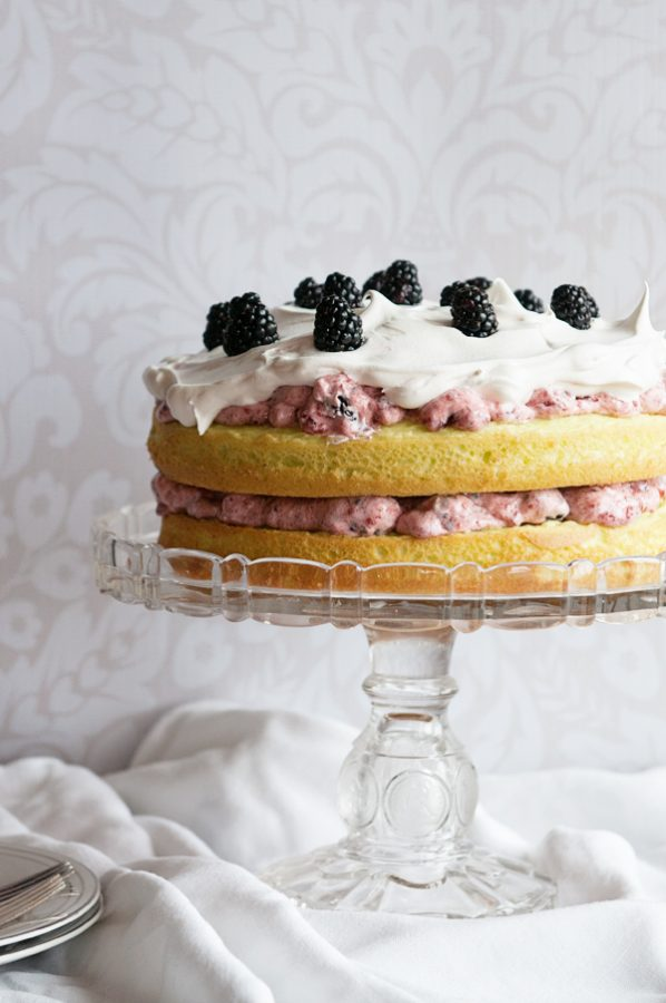 Blackberry Lime Sunshine Cake