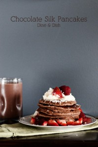 The Chocolate Milk Test {Recipe: Chocolate Silk Pancakes}