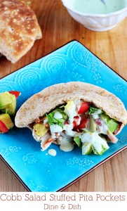 Stuff It {Recipe: Cobb Salad Stuffed Pita Pockets}