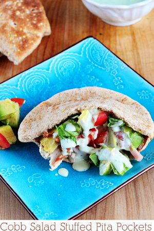 Cobb Salad Stuffed Pita Pockets