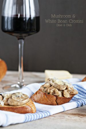 Stark Raving {Recipe: Mushroom and White Bean Crostini}