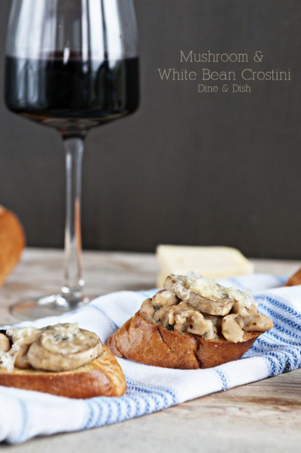 Mushroom and White Bean Crostini