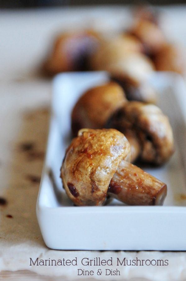 Marinated Grilled Mushrooms www.dineanddish.net