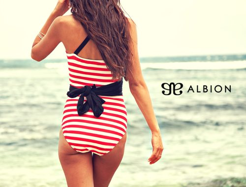 albion striped suit