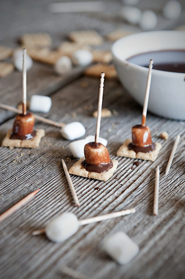 S'Mores Fondue Bites – No Fondue Pot Required