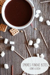 Fun S'Mores Fondue Bites – No Fondue Pot Required