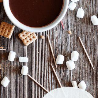 S'mores Chocolate Fondue Bites Without a Fondue Pot