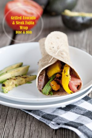 Not In Kansas {Recipe: Grilled Avocado and Steak Fajita Wrap}