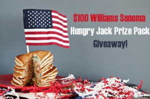 $100 Williams Sonoma Gift Card and Hungry Jack Giveaway!