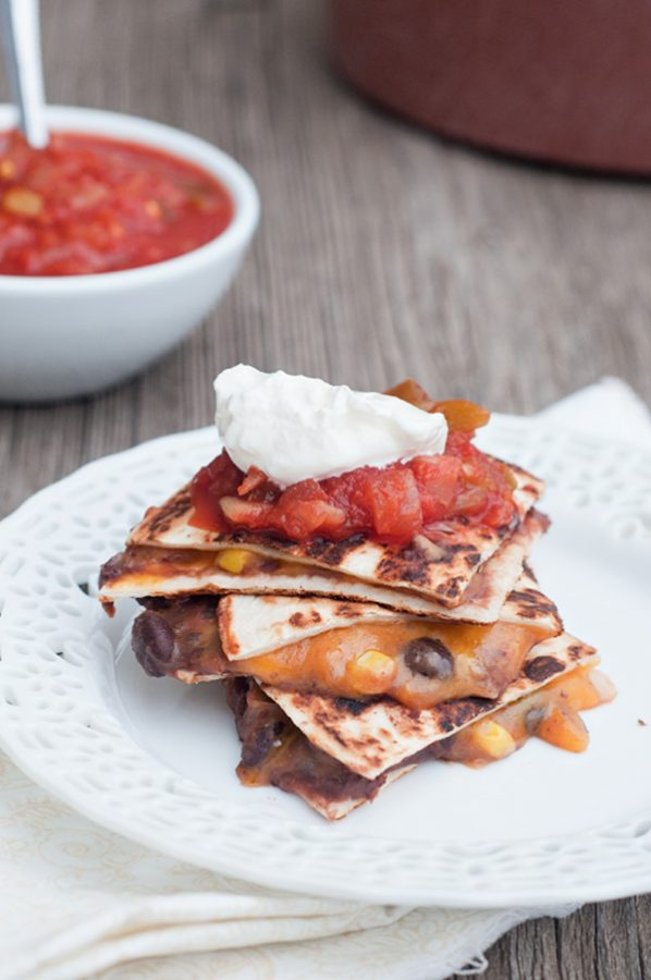 Black Bean Corn and Cheese Quesadillas Meatless Meal