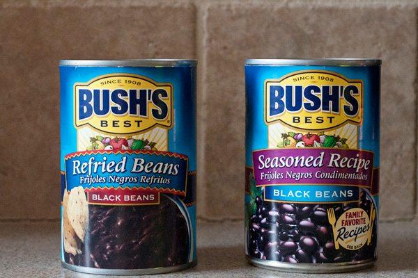Bush's Black Beans and Refried Black Beans