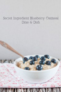Boost It with Blueberries {Recipe: Secret Ingredient Oatmeal}
