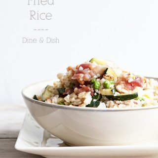 Bacon Fried Rice Recipe on www.dineanddish.net This needs to be in your menu rotation!