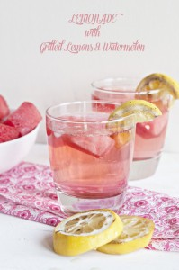 Lemonade with Watermelon and Grilled Lemons from www,dineanddish.net