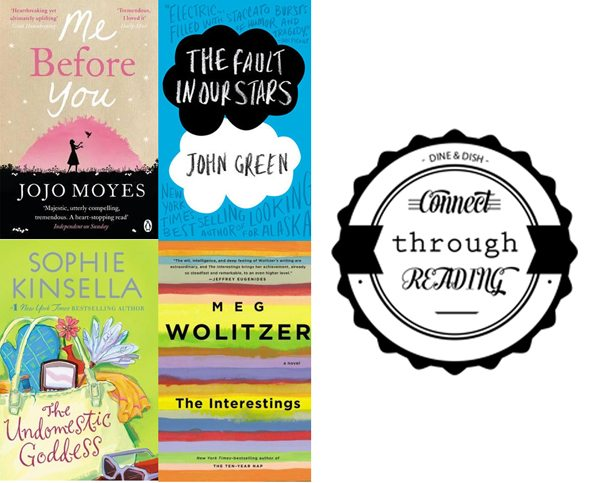 Connect Through Reading Book Reviews - Me Before You, The Fault in Our Stars, The Interestings and The Undomestic Goddess