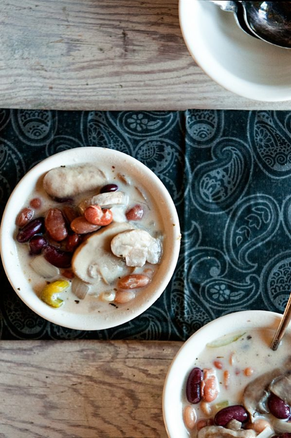 Creamy Mushroom 3 Bean Soup from www.dineanddish.net
