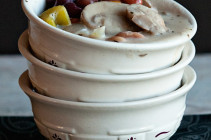 Creamy Mushroom and 3 Bean Soup from Dine & Dish