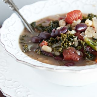 Healthy 2 Bean Kale Soup from www.dineanddish.net